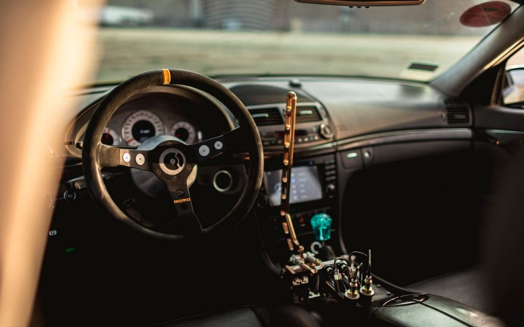 Interior in Mercedes W211 for drift